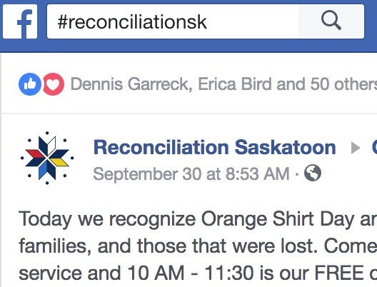 Create or follow hashtags about Reconciliation