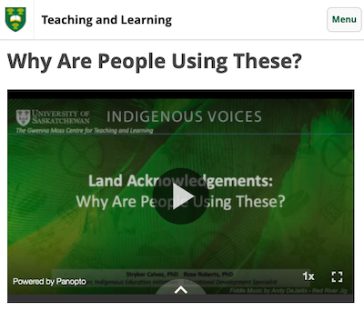 Craft Your Own Land Acknowledgement