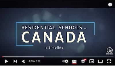 Watch: Residential Schools in Canada Timeline